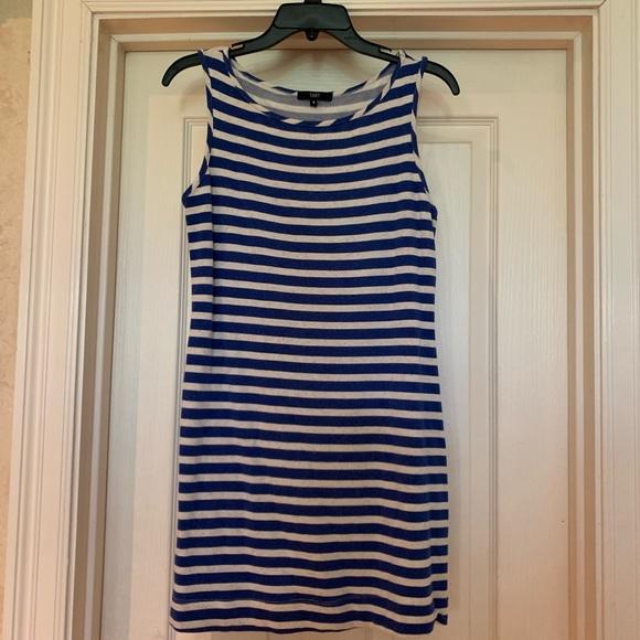 Tart Dresses & Skirts - Tart blue& white tank dress